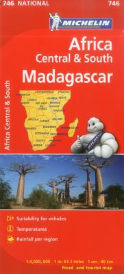 Michelin South Central and Madagascar Map By Michelin Travel & Lifestyle (COR)